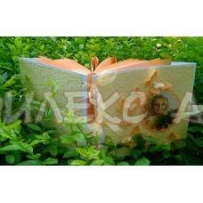 Книга за пожелания в нежна праскова