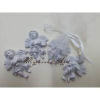 Ангелче в сребристо-подаръци за гости на кръщене
