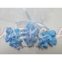 Ангелче в синьо-подаръци за гости на кръщене