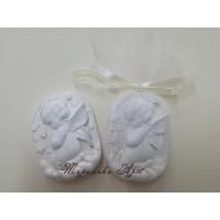 Ангелче за кръщене-подаръци за гости в златисто