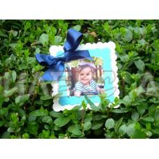 Подарък за гости магнит-с панделка и снимка