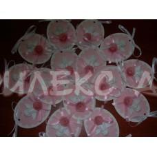 Подарък за гости за кръщене 3Д магнит-ангелче с роза