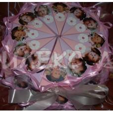 Бонбонена картонена торта със снимка на Вашето дете