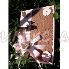 Картичка с паус и пеперуди