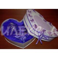Надписани чаши в прекрасна пеперудена кутия-оригинален подарък за любим човек
