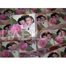 Красива сватбена бонбониера със снимка-подарък за вашите гости